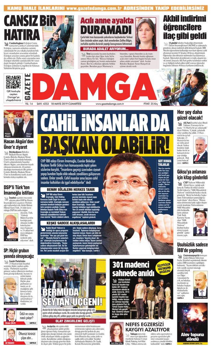 Gazete Damga - 18.05.2019 Sayfaları