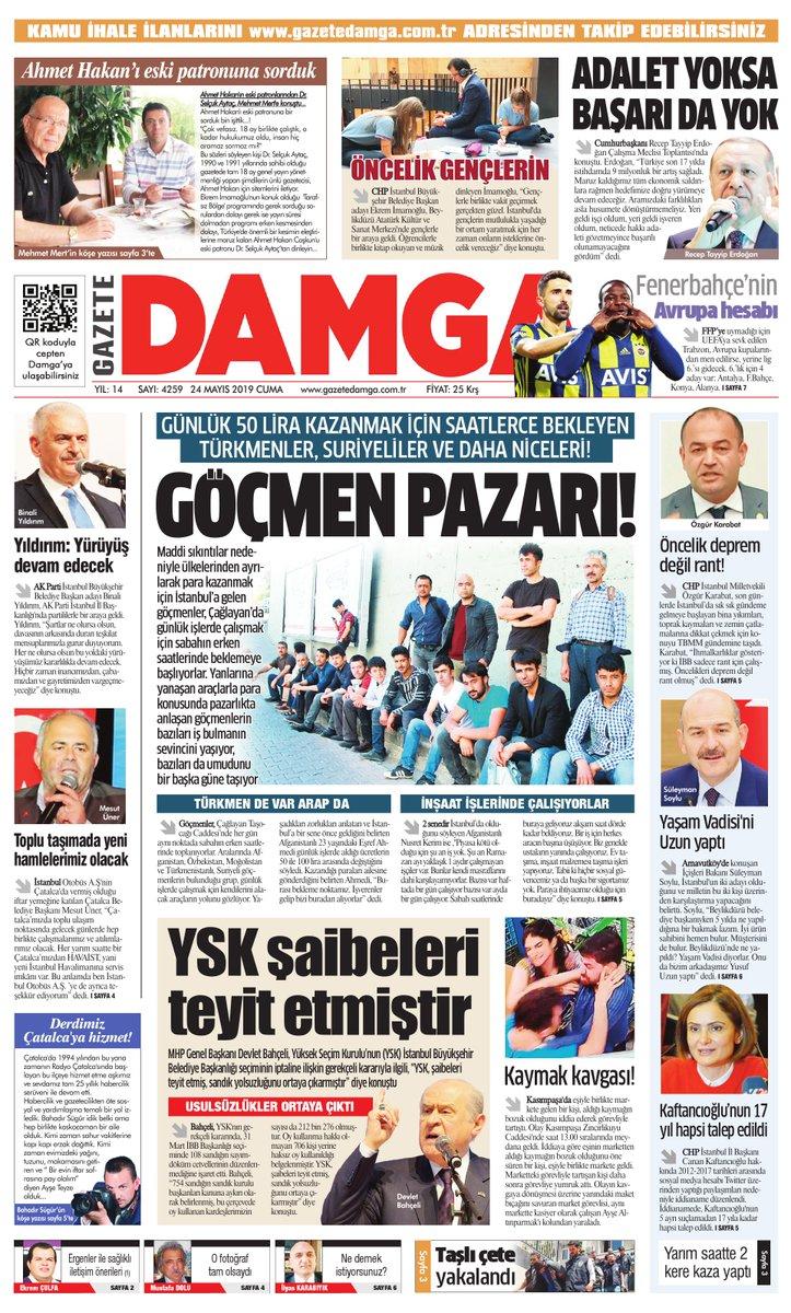 Gazete Damga - 24.05.2019 Sayfaları