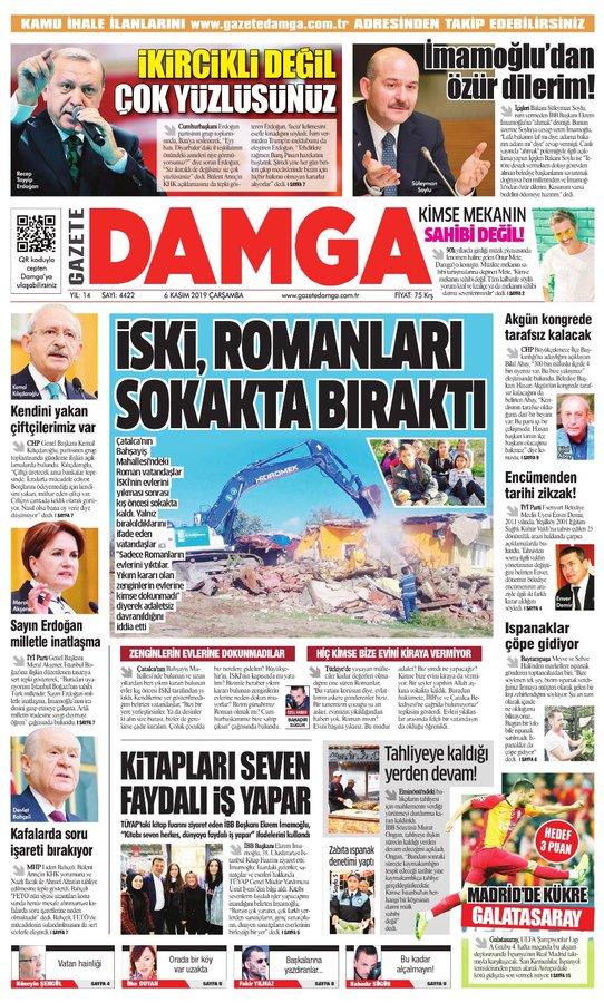 Gazete Damga - 06.11.2019 Sayfaları