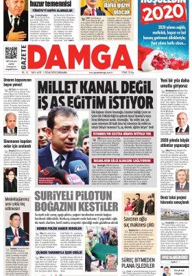 Gazete Damga - 01.01.2020 Sayfaları