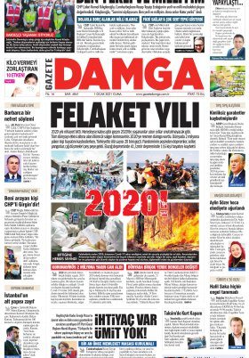 Gazete Damga - 01.01.2021 Sayfaları