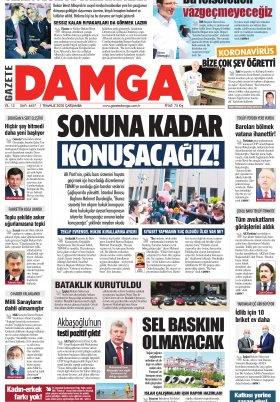 Gazete Damga - 01.07.2020 Sayfaları