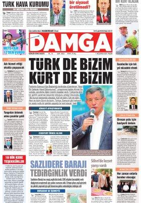 DAMGA Gazetesi - 01.08.2021 Sayfaları