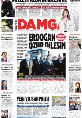 Gazete Damga - 02.01.2021 Sayfaları