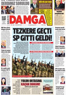 Gazete Damga - 03.01.2020 Sayfaları