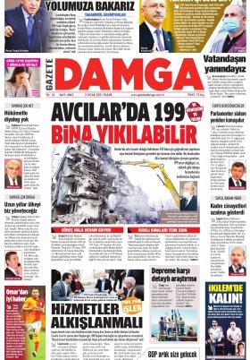 Gazete Damga - 03.01.2021 Sayfaları