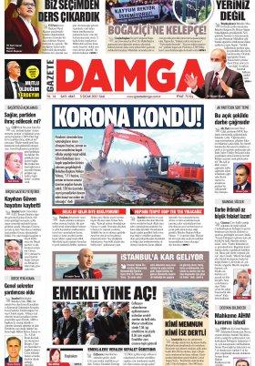 Gazete Damga - 05.01.2021 Sayfaları