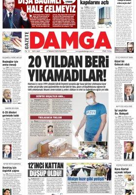Gazete Damga - 06.07.2020 Sayfaları