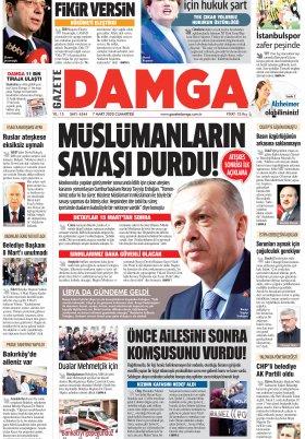 Gazete Damga - 07.03.2020 Sayfaları
