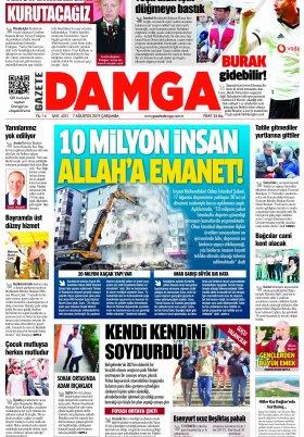 Gazete Damga - 17.08.2019 Sayfaları