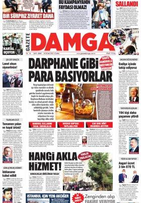 Gazete Damga - 08.01.2021 Sayfaları
