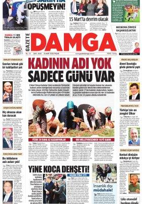 Gazete Damga - 08.03.2020 Sayfaları