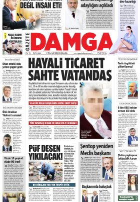 Gazete Damga - 08.07.2020 Sayfaları