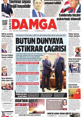 Gazete Damga - 09.01.2020 Sayfaları