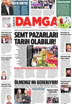 Gazete Damga - 09.03.2020 Sayfaları