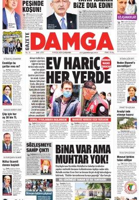 Gazete Damga - 09.09.2020 Sayfaları