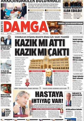 Gazete Damga - 14.12.2017 Manşeti
