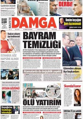 Gazete Damga - 25.02.2018 Manşeti