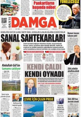 Gazete Damga - 17.03.2018 Manşeti