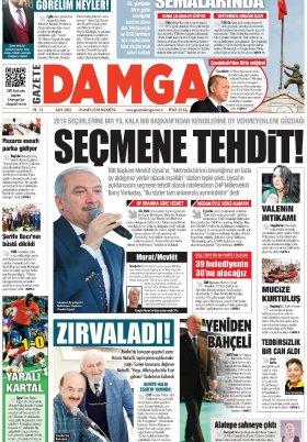Gazete Damga - 19.03.2018 Manşeti