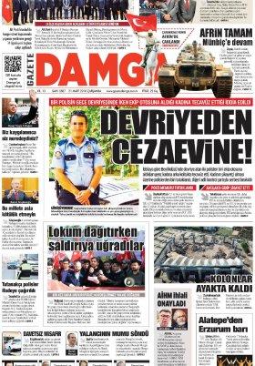 Gazete Damga - 21.03.2018 Manşeti