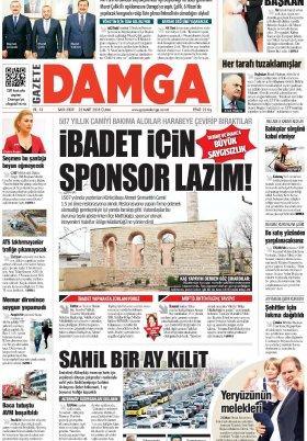 Gazete Damga - 23.03.2018 Manşeti