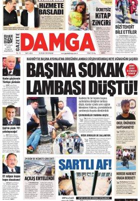 Gazete Damga - 23.09.2018 Manşeti