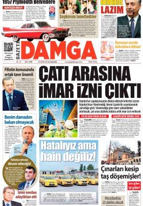 Gazete Damga - 23.05.2018 Manşeti