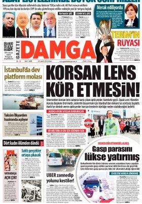 Gazete Damga - 22.05.2018 Manşeti