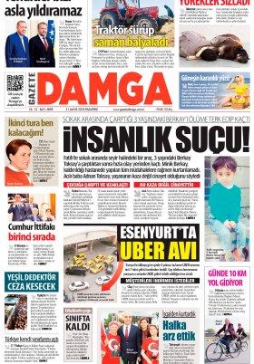 Gazete Damga - 21.05.2018 Manşeti