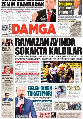 Gazete Damga - 25.05.2018 Manşeti