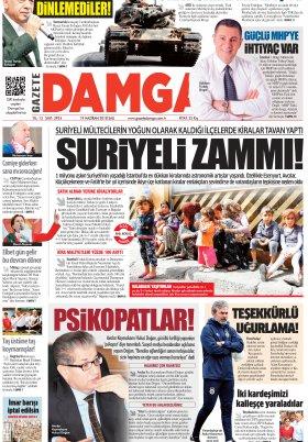 Gazete Damga - 19.06.2018 Manşeti
