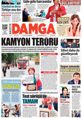Gazete Damga - 24.05.2018 Manşeti