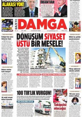 Gazete Damga - 10.01.2021 Sayfaları
