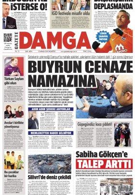 Gazete Damga - 10.12.2018 Sayfaları