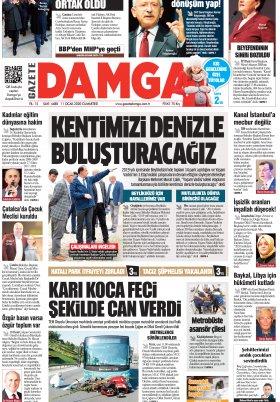 Gazete Damga - 11.01.2020 Sayfaları