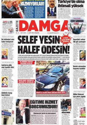 Gazete Damga - 11.03.2020 Sayfaları