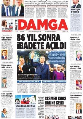 Gazete Damga - 11.07.2020 Sayfaları