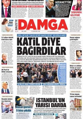 Gazete Damga - 12.01.2021 Sayfaları