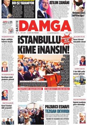 Gazete Damga - 12.03.2020 Sayfaları