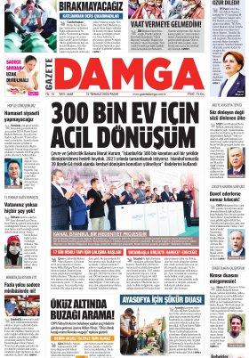Gazete Damga - 12.07.2020 Sayfaları