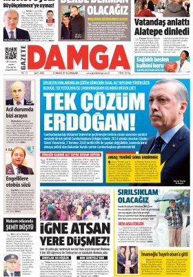 Gazete Damga - 12.12.2018 Sayfaları