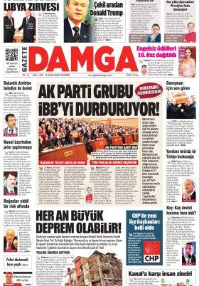 Gazete Damga - 13.01.2020 Sayfaları
