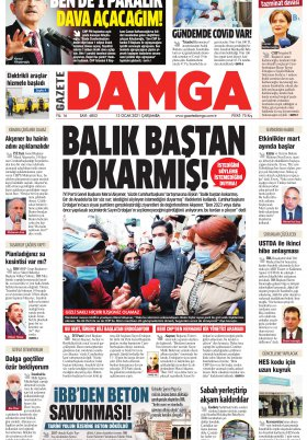 Gazete Damga - 13.01.2021 Sayfaları