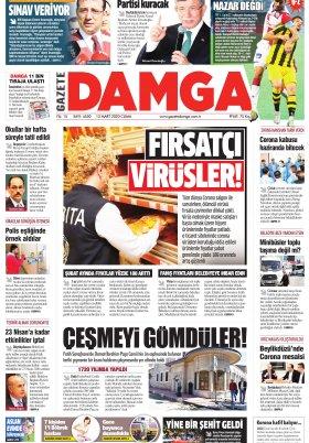 Gazete Damga - 13.03.2020 Sayfaları