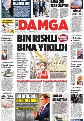 Gazete Damga - 13.09.2020 Sayfaları
