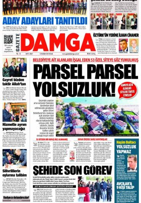 Gazete Damga - 13.11.2018 Sayfaları
