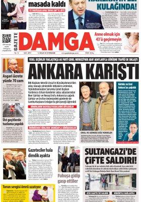 Gazete Damga - 13.12.2018 Sayfaları