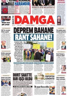 Gazete Damga - 14.01.2021 Sayfaları