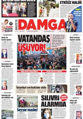 Gazete Damga - 14.09.2020 Sayfaları